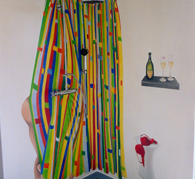 Wandbild Im Bad von Nina Horstmeier