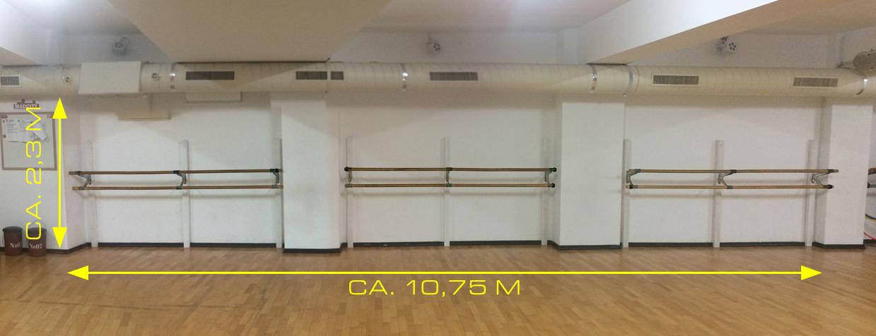 Wand im Tanzsaal