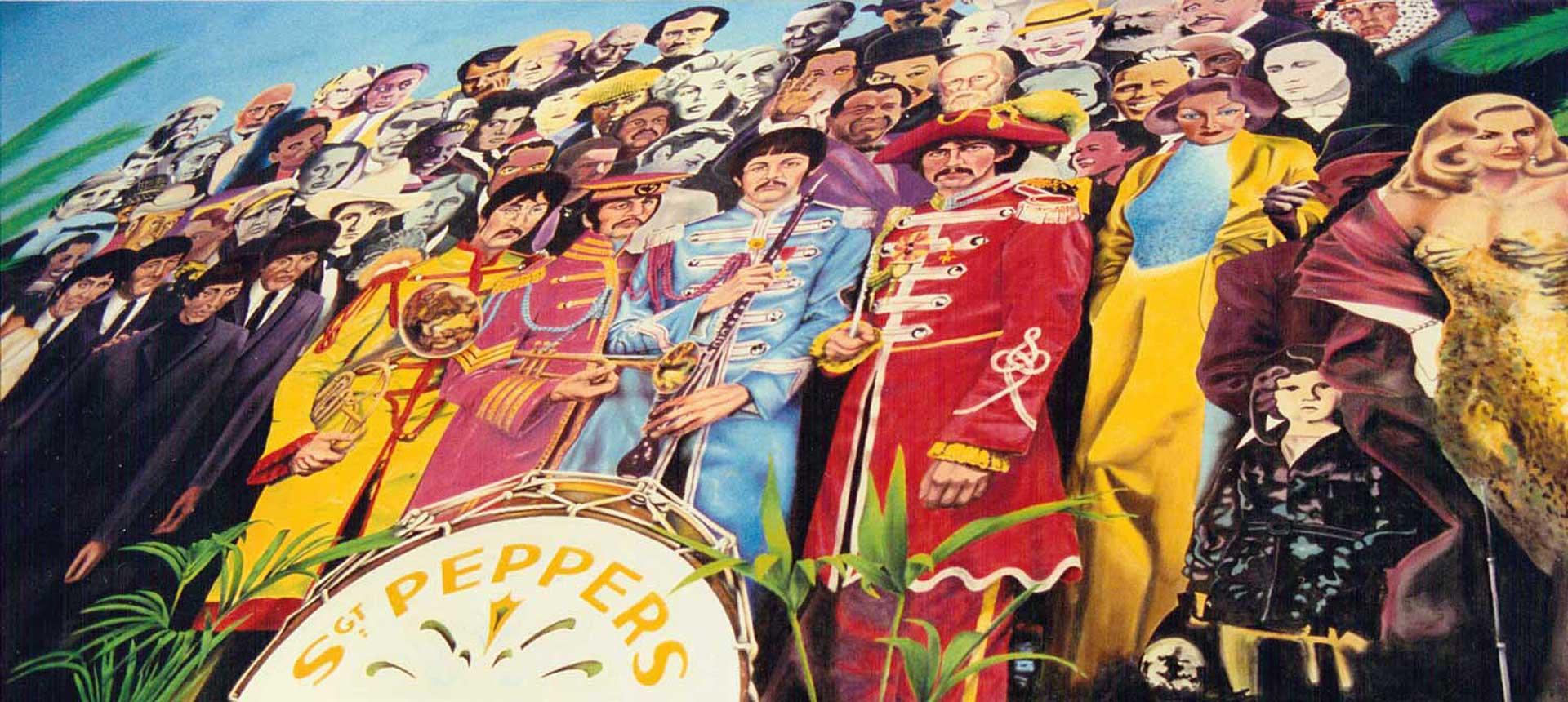 Beatlescover Sgt. Pepper lebensgroß