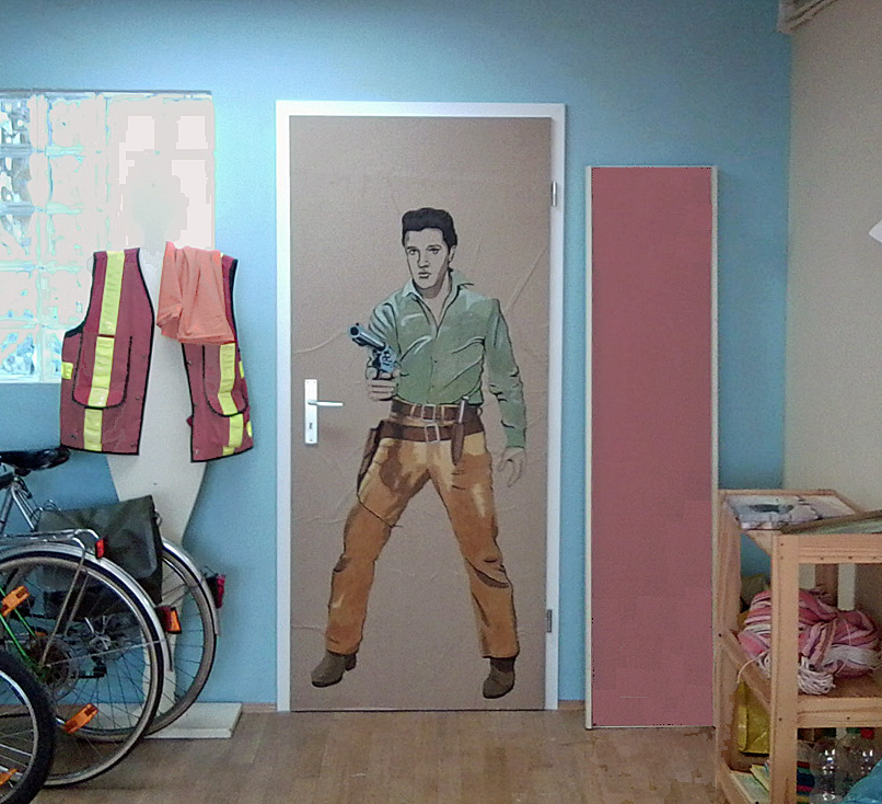 Elvis Presley auf Zimmertür