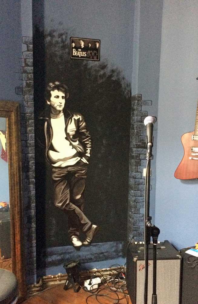 John Lennon Figur im Musikzimmer