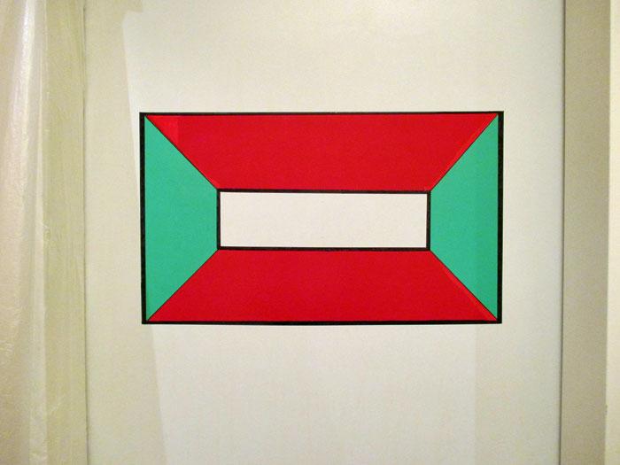 Geometrische Form auf Zimmertür