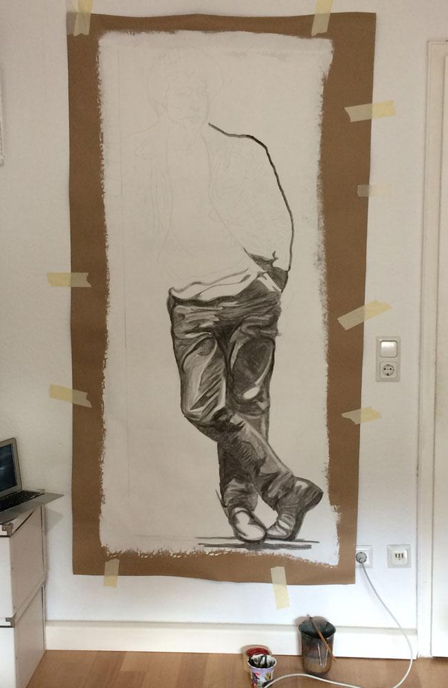 John Lennon Figur im Atelier| Entstehungsprozess