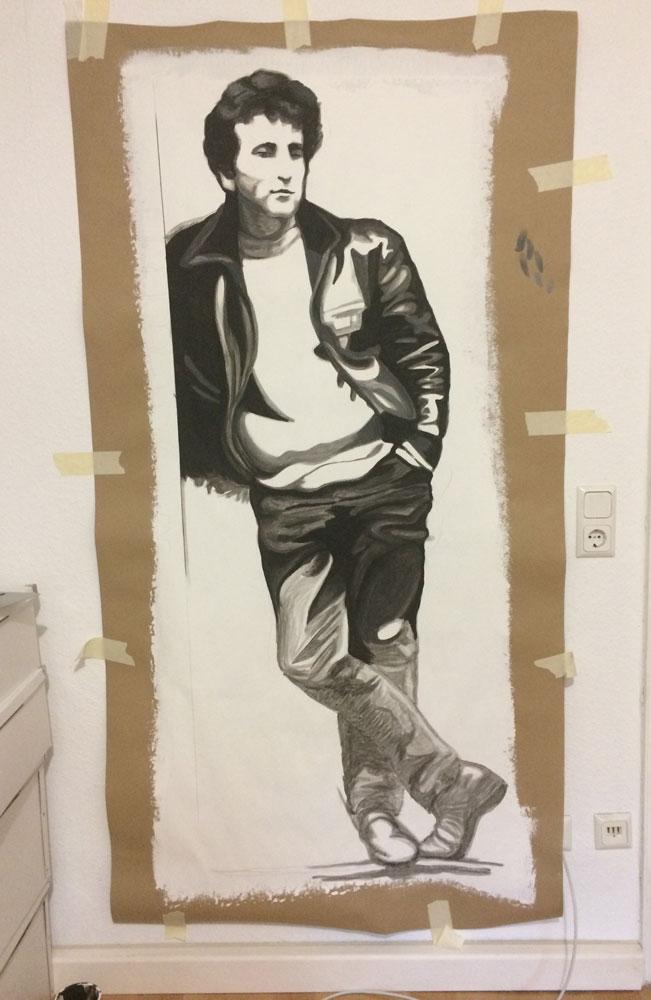 John Lennon Figur im Atelier