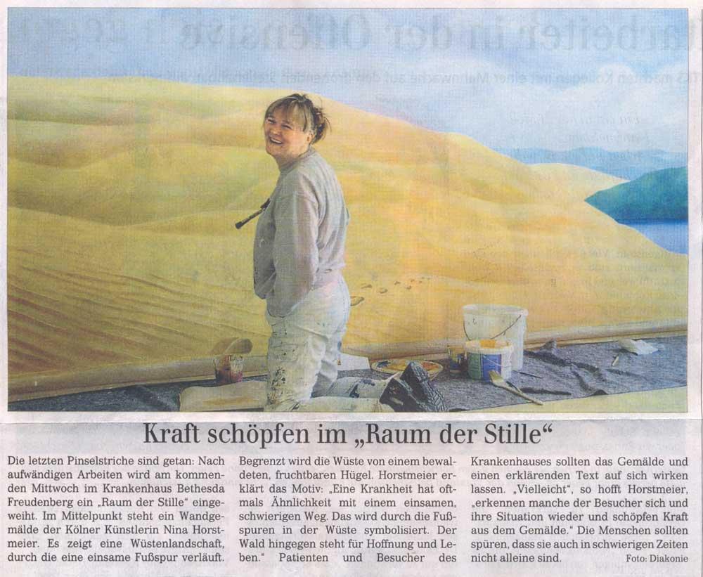 Presseartikel über Nina Horstmeier