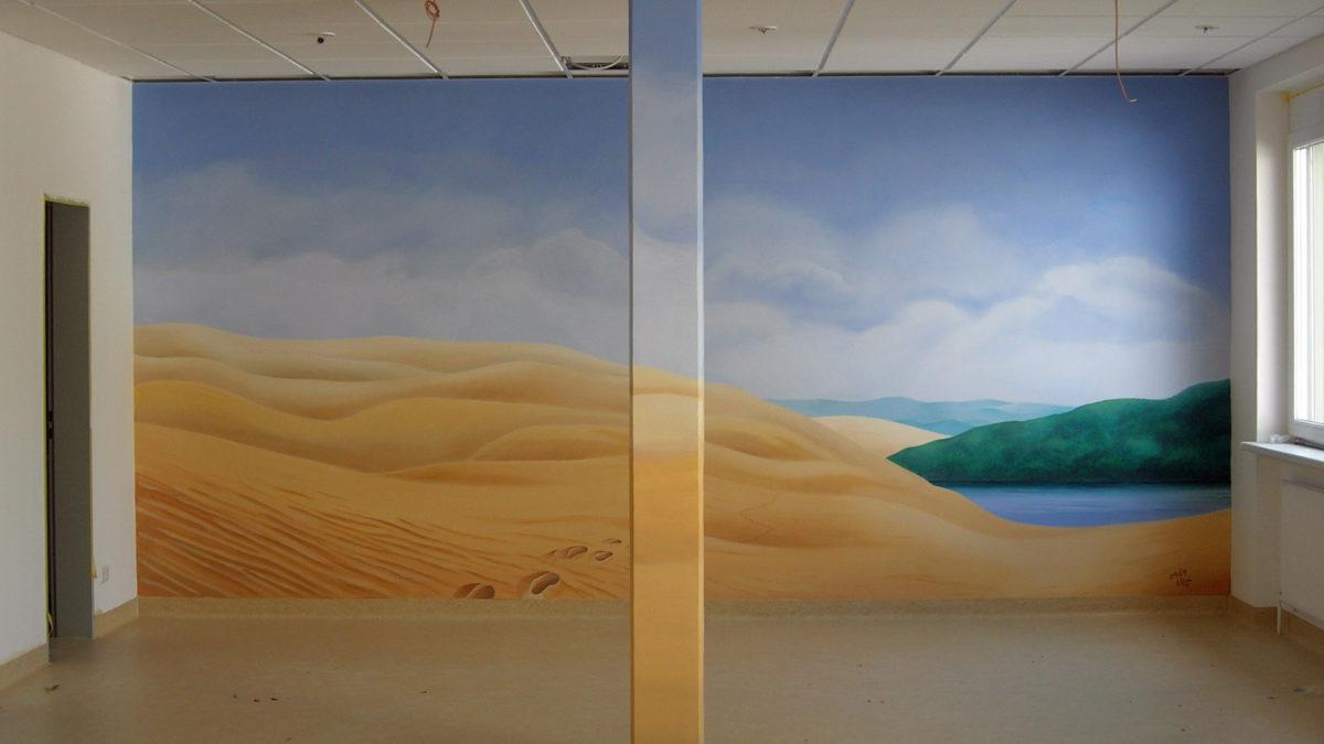 Wandbild im Raum der Stille